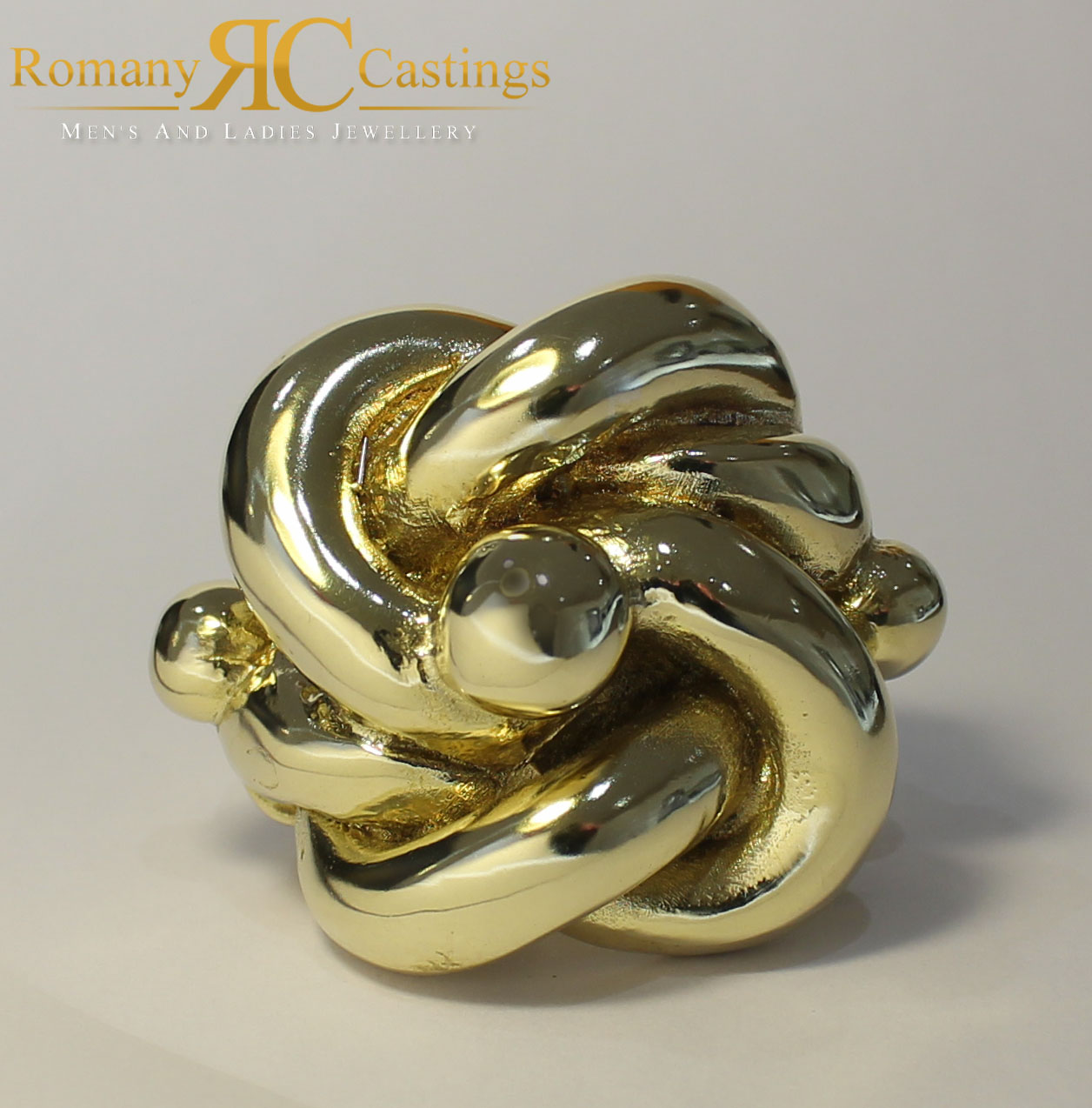 Men S World S Heaviest Jewellers Bronze Knot Ring 9ct Gold Dipped 188g Min Si Ebay